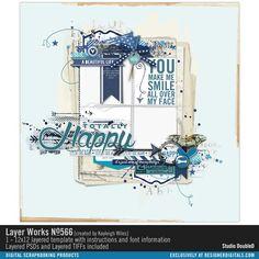 Layer Works No. 566- Studio Double-D Templates- LT462916- DesignerDigitals