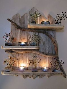 Charming Natural Genuine Driftwood Shelves Solid Rustic Shabby Chic Nautical. in Home, Furniture & DIY, Furniture, Bookcases, Shelving & Storage eBay(Diy Art Decor)