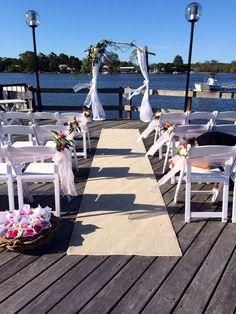Noosa River wedding on the helipad at the Noosa Marina!
