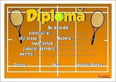 Diplomă pentru concursuri de volei Tennis Racket, Tennis, Organization