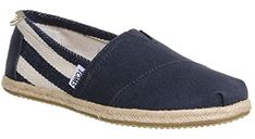 Toms Classic University Navy White Stripes Womens Canvas Espadrille Shoes Slipons-3 - Toms sneakers for women ( Amazon Partner-Link) Toms Outfits, Cheap Toms Shoes, Toms Shoes Outlet, Toms Sneakers, Striped Espadrilles, Toms Classic, Espadrille Shoes, Partner, Navy And White