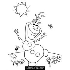 Free Olaf Snowman Printable From Disney S Frozen Movie