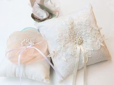Wedding Ring Pillow Ring Bearer Pillow by JasmineLoveHandmade