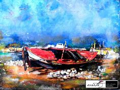 Mixed media, decoupage, painting Decoupage, Mixed Media, My Arts, Boat, Art Work, Painting, Vintage, Artwork, Dinghy