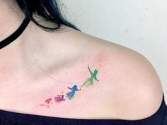 These Peter Pan tattoos are perfect for everyone who still hopes they never grow up