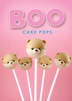 Boo the Dog Cake Pops by Bakerella. There are plenty of pretenders, but Bakerella is the boss at cake pops! I've been waiting for a Boo pop!