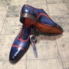 Chaussures accordées à la montre