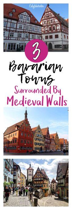 3 Bavarian Towns - Nördlingen, Dinkelsbühl, Rothenburg ob der Tauber - Surrounded by Medieval Walls - California Globetrotter