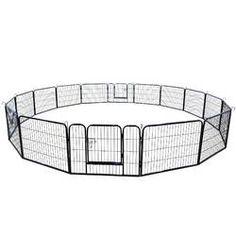 Archie & Oscar™ Abigail Steel Yard Kennel & Reviews | Wayfair Outdoor Dog, Indoor Outdoor, Puppy Playpen, Corrugated Carton, Pet Barrier, Dog Pen, Pet Gate, Pet Dogs, Puppies