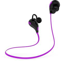 SoundPEATS Wireless Bluetooth Headphones In Ear Sport Earbuds for... ($23) ❤ liked on Polyvore featuring accessories, tech accessories, sports earbuds, sports headphones, ear bud headphone, earbud headphones and purple headphones