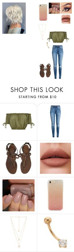 """Untitled #640"" by nicole-jordan0342 ❤ liked on Polyvore featuring H&M, Gucci, Kate Spade and Natalie B"