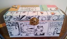 Calvin and Hobbes decoupage trinket box by PastePotPrefects,
