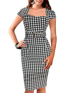 Stunning Round Neck Blended Printed Bodycon-dress - stylishplus.com