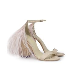 Custom&Chic by Duyos Sandalias plumas marabú tacones resina acuarelados_a 450€ Stilettos, Heels, Chic, Fashion, Gowns, Shoes Sandals, Zapatos, Feathers, Resin