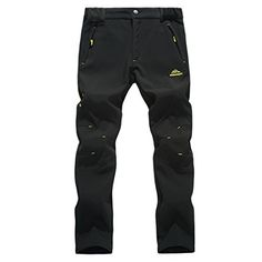 Modern Fantasy Mens Waterproof UV Elastic Fleece Outdoor Climbing Pants Black Size US XXL. This is surely a great product!