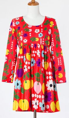 CHERRIES 'N PETALS DRESS (1960s) from They Roared Vintage.  I could wear 60's fashions every day