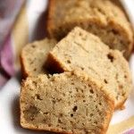 Peanut butter and banana go great together. With that in mind, I created this banana bread that uses protein-rich peanut butter in place of butter or margarine