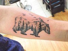 Cali Tattoo, Alaska Tattoo, Moose Tattoo, Tiger Tattoo, Nature Tattoos, Body Art Tattoos, Cool Tattoos, Tatoos, Side Foot Tattoos