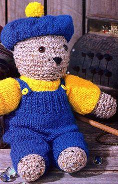 Leisure Arts - Pierre The Beret Bear Knit Doll Pattern ePattern, $2.99 (http://www.leisurearts.com/products/pierre-the-beret-bear-knit-doll-pattern-digital-download.html)