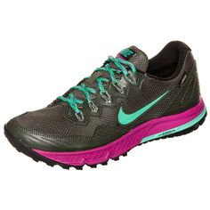 Nike Womens Air Zoom Wildhorse 3 GTX (Cargo Khaki/Menta-Fuchsia Flash) >>> Read more reviews of the product by visiting the link on the image.