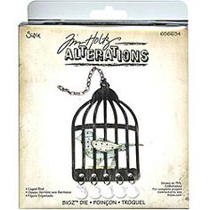 @Overstock - This Sizzix die was created to cleanly cut cardstock, chipboard, fabric, foam, magnet, leather, metallic foil, paper, and sandpaper. This Bigz die features a lovely caged bird design.  http://www.overstock.com/Crafts-Sewing/Sizzix-Bigz-Caged-Bird-Die/4892921/product.html?CID=214117 $19.30