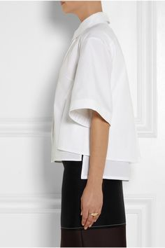 Peter Pilotto|Radial layered cotton shirt|NET-A-PORTER.COM