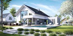 'Zwarta bryła budynku, duże przeszklenia i dwuspadowy dach to tylko niektóre cechy nowoczesnego, energooszczędnego domu. Fot. HomeKoncept'