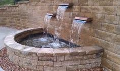 Image result for 2 formal ponds linked with waterfall Pond Waterfall, Ponds, Waterfalls, Landscape, Formal, Garden, Image, Preppy, Scenery
