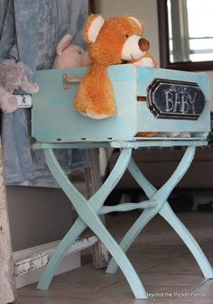 Luggage Rack + A Crate = A Fun New Upcycled Piece