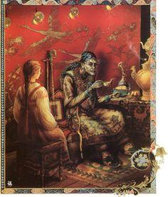 Russian fairytale. Vasilisa & Baba Yaga