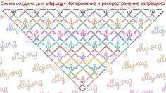 Схема вязания шали Коронация
