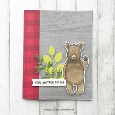 Virtual Hug, Concord And 9th, Fundraising, Cardmaking, Birthday Cards, Sketches, Paper Crafts, Bear, Autism