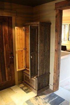 Reclaimed Lumber Gun Cabinet by Tom's Custom Woodworking Inc./Wine 2 Wood