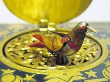 Antique Gilded Brass Singing Bird Automaton Music Box German Wind Up Toy