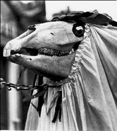 Mari Lwyd This is slightly bizarre, but apparently a Welsh Christmas tradition. More at the link.