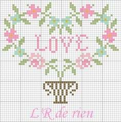 Miniature needlework chart Cross Stitch Heart, Cross Stitch Borders, Cross Stitch Samplers, Cross Stitching, Cross Stitch Embroidery, Wedding Cross Stitch Patterns, Modern Cross Stitch Patterns, Cross Stitch Designs, Graph Paper Art