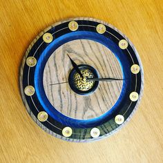 English Ash clock with 12 gauge cartridges as hour markers. Markers, Ash, Clock, English, Unique, Watch, Sharpies, Marker, English Language