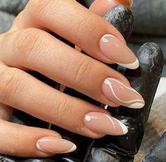 Acrylic Nails Coffin Short, Almond Acrylic Nails, Best Acrylic Nails, Short Stiletto Nails, Rounded Acrylic Nails, Coffin Nails, Chic Nails, Stylish Nails, Trendy Nails