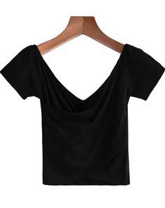 Black Off the Shoulder Double Layer Blouse EUR€12.72