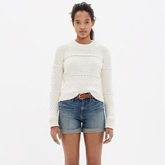 """Our denim shorts are made to fit just right—not too baggy, not too tight. Plus, they hit at the perfect place on the thigh to ensure maximum cool-girl legginess. We love the way the artfully hand-distressed details give these cutoffs that perfectly worn-in look. <ul><li>True to size, fixed waistband.</li><li>5"""" inseam.</li><li>Cotton.</li><li>Machine wash.</li><li>Import.</li></ul>"""