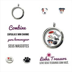 Uma dica pra montar sua cápsula em homenagem aos seus amiguinhos mais fiéis.  #pets #dogs #cães #cupidolovestore #linhatreasure #capsulas e #charms compatíveis com #lifesecrets da #vivara