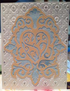 Damask Decor- wedding card