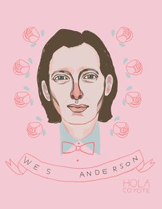 Wes Anderson Prom King #illustration #film #pink @Laura Pohlman