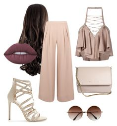 """Unbenannt #47"" by talisaprimou ❤ liked on Polyvore featuring Antipodium, Tamara Mellon, Balmain, Givenchy and Lime Crime"
