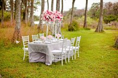 Styling by J Morgan Flowers and Kiss the Planner. Photography by Maggie Stolzberg. Makeup and Hair by Ultimate Bridal Beauty. Linens and rentals from Atlas Party Rental. Romantic Wedding. Light Pink. Magenta. Ivory. Grey. Flower Girl dress. Bridesmaids Dress. Outdoor Wedding. Creative Ideas in Pink. Wedding table ideas. Napkin Fold. Charger Plates.