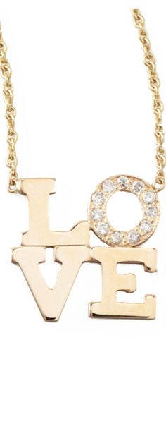 Zoe Chicco Pave Diamond Love Pendant Necklace