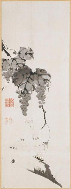 Philadelphia Museum of Art - Grapes Itō Jakuchū, Japanese, 1713 - 1800. Eighteenth century.