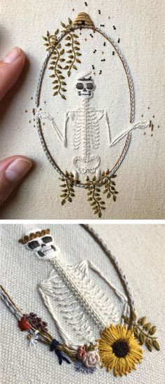 More great embroidery xx