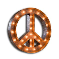 Peace Sign Marquee Light now featured on Fab.