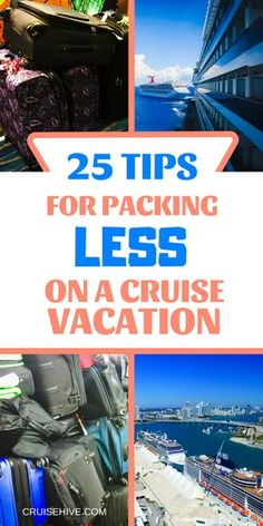 If you're planning a cruise vacation then here are some travel tips for packing less. Lot's of cruise tips to make sure you don't over pack, we've all done it! Honeymoon Cruise, Cruise Travel, Cruise Vacation, Vacation Packing, Vacations, Honeymoon Ideas, Affordable Honeymoon, Bahamas Cruise, Romantic Honeymoon